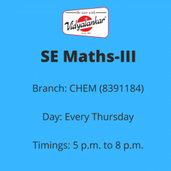 SE - Maths-III (New) (CHEM)