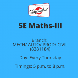 SE - Maths-III (New) (MECH/...