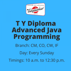 T Y Diploma Advanced Java...